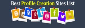 Top High PR Profile Creation Website List